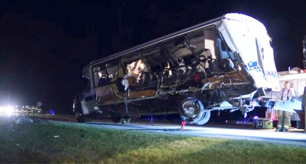 Four members of North Central Texas College softball team killed in Oklahoma bus crash