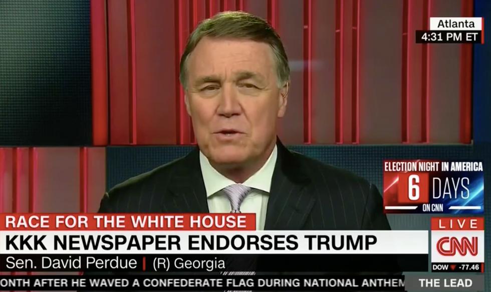 Jake Tapper grills southern GOP senator over Trump KKK endorsement: 'Does it bother you?'