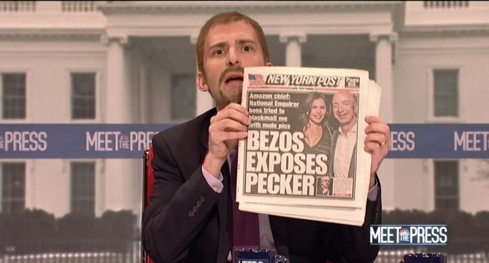 SNL goes in-depth on the appearance of Jeff Bezos' penis during cold opening