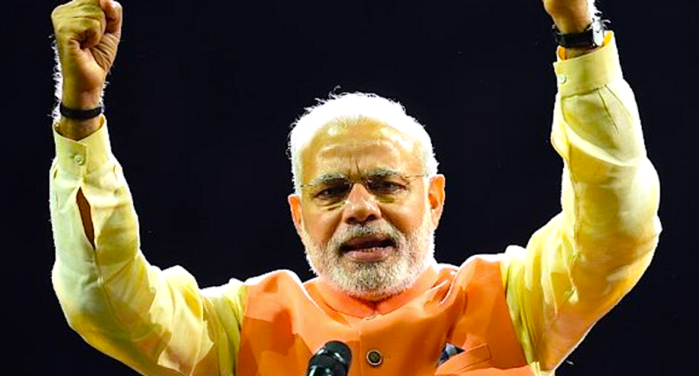 US gives rock star welcome to India's far-right Narendra Modi