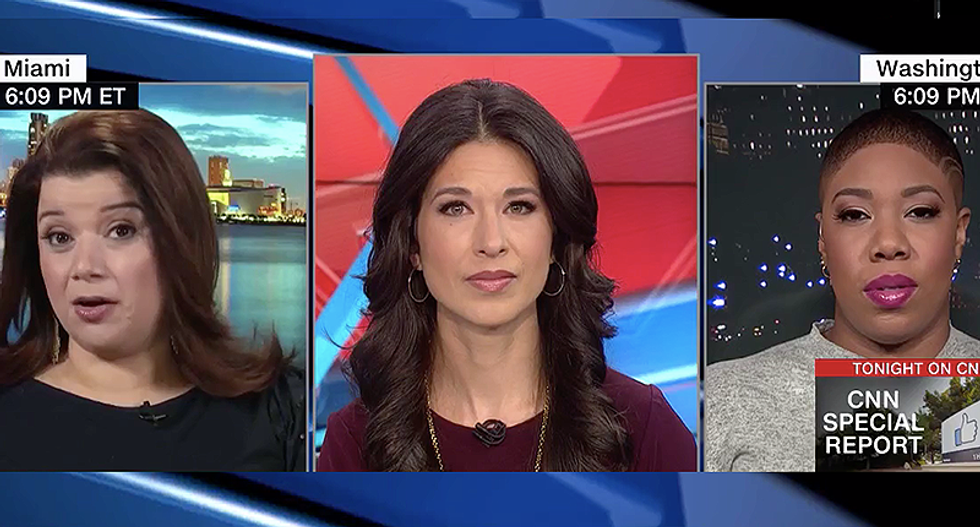 'Poor baby didn't want to get his hair wet': Ana Navarro mocks Trump for 'snow woman' attack on Klobuchar