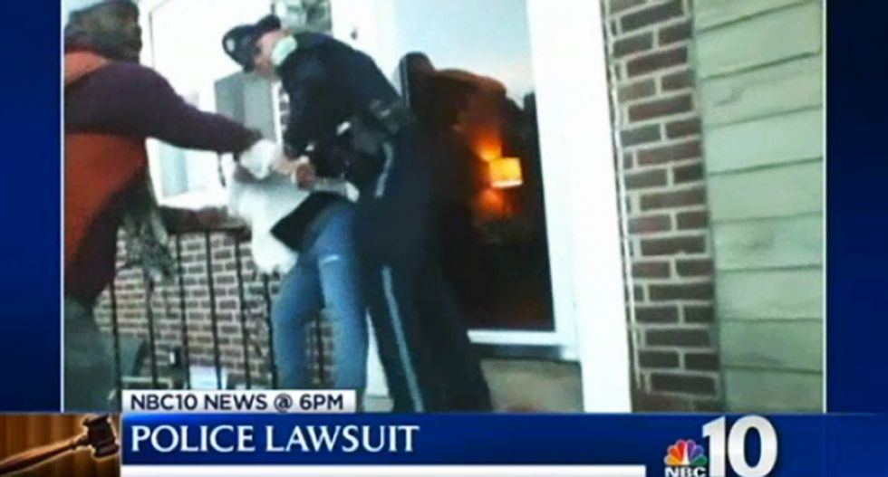 WATCH: PA police officers burst into home, arrest woman for filming them with cellphone