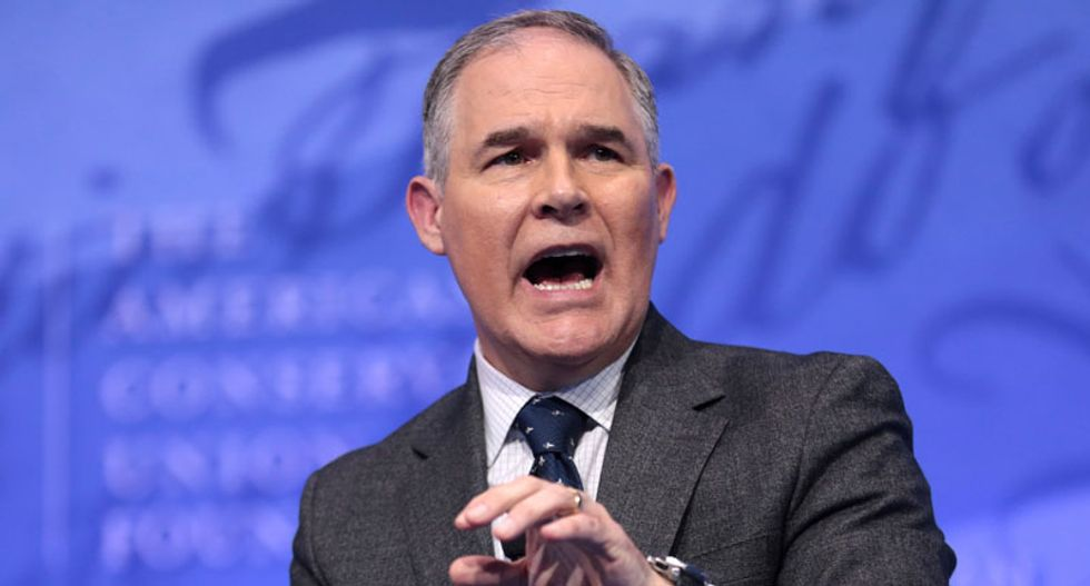 Here's the ridiculous spin conservatives want you to believe about Scott Pruitt's scandalous resignation