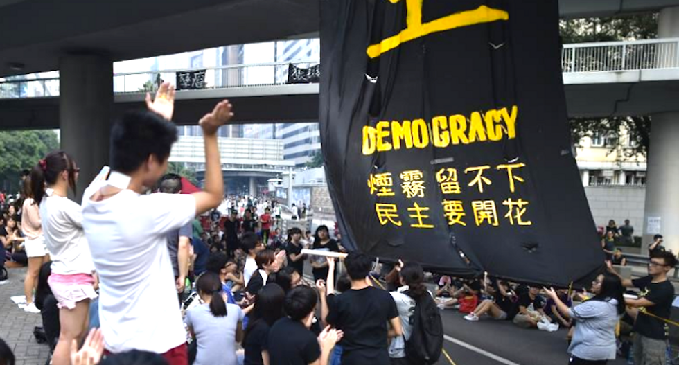 China backs Hong Kong's crackdown on 'illegal' pro-democracy protests