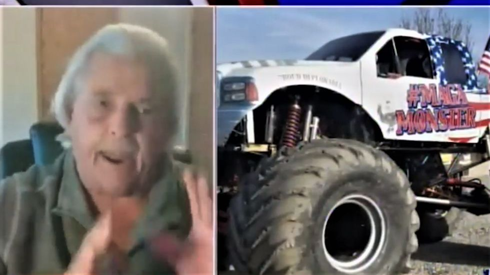 Trump supporter blames 'socialists' for MAGA monster truck ban -- then begs for a handout