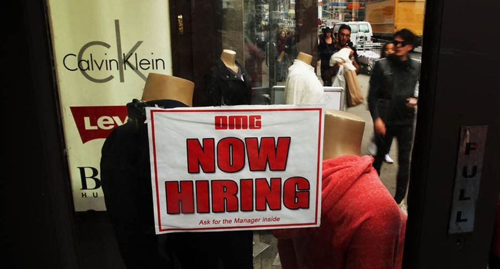US unemployment rate falls to 5.9 percent -- a six-year low -- as 248,000 jobs created