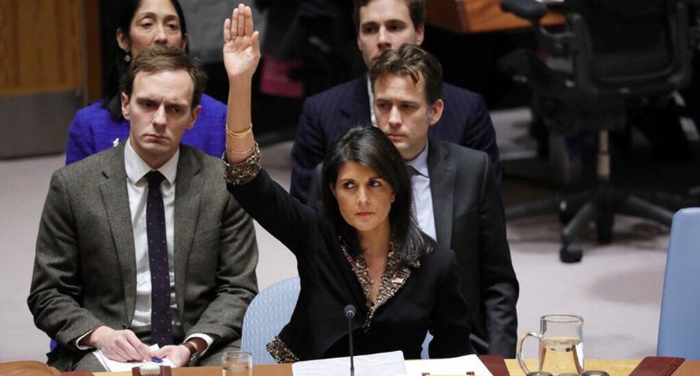 Internet roasts 'schoolyard bully' Nikki Haley after she threatens to 'take names' during a UN vote