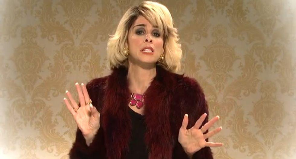 SNL:  Sarah Silverman roasts dead celebrities as 'Joan Rivers' in Heaven
