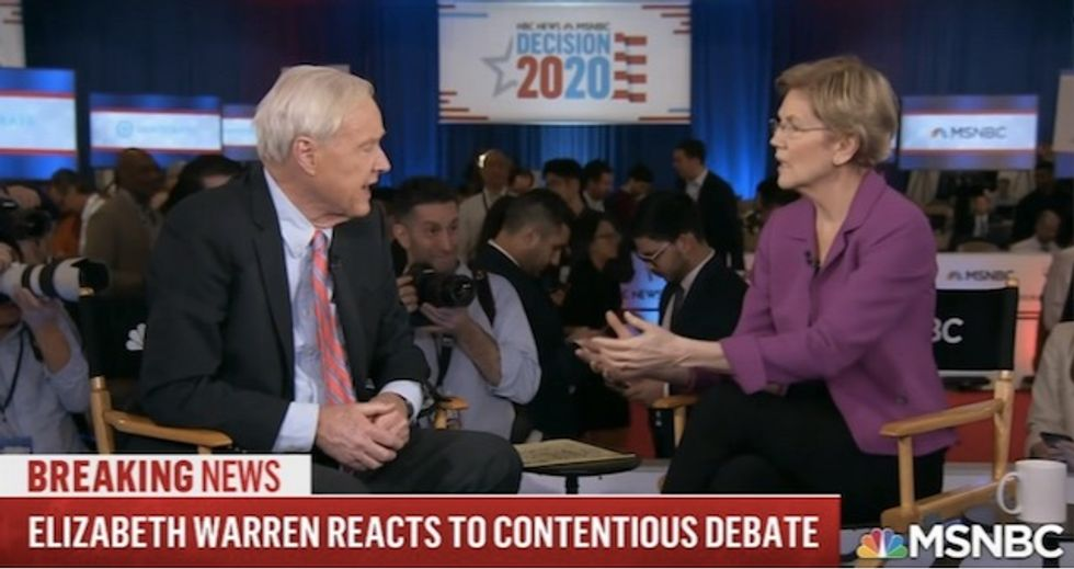 'Fire Chris Matthews,' women's rights group says after MSNBC host grills Warren over discrimination claims against Bloomberg