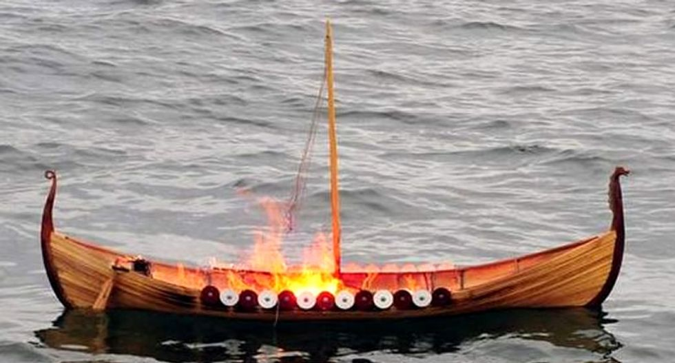 With the help of the Coast Guard, World War II veteran has Viking funeral at sea