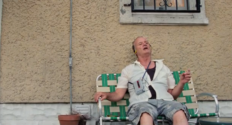 Here is Bill Murray singing along to Bob Dylan because it is Bill Murray, and Dylan