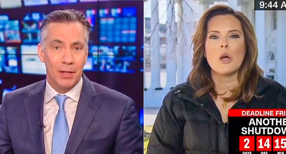 'Hold Steve King to the same standard': CNN host grills White House flack after Trump calls for Dem resignation