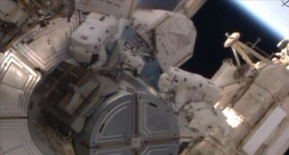 WATCH: Astronauts catch a 'spectacular view' during their first spacewalk