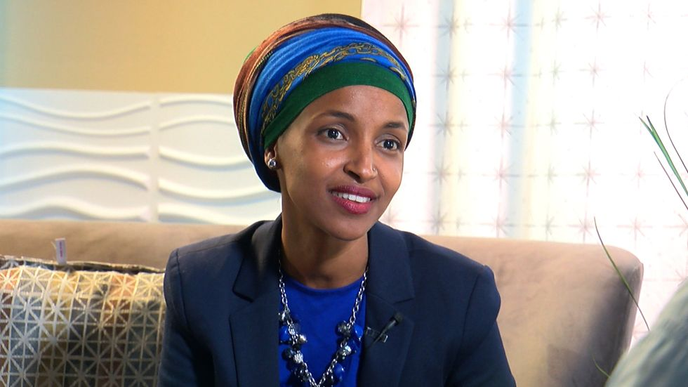 West Virginia Republicans under fire for allowing anti-Muslim poster linking Ilhan Omar to 9/11 during 'GOP Day'