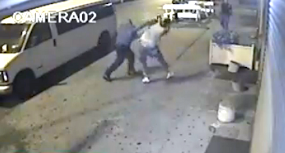 WATCH: NYPD cops pistol-whip cowering teenage pot suspect after foot chase