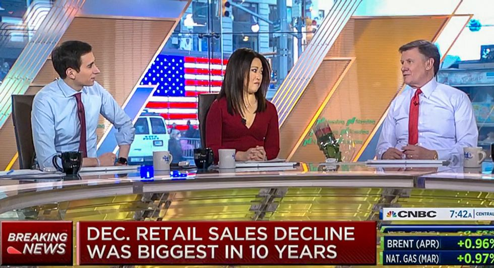 CNBC hosts sit utterly stunned over worst holiday sales in 9 years: 'I was thinking things were pretty good'