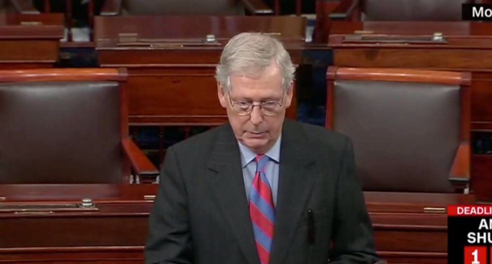 McConnell gets walloped for 'waiting for Trump's permission' before taking vote on government funding
