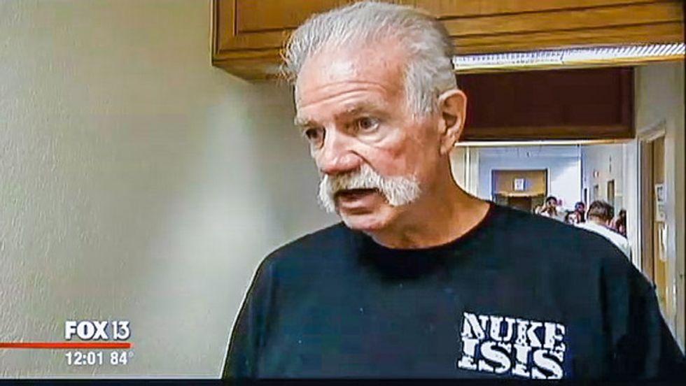 Anti-Muslim Florida pastor wears 'Nuke ISIS' shirt to court for 'Koran burning' case