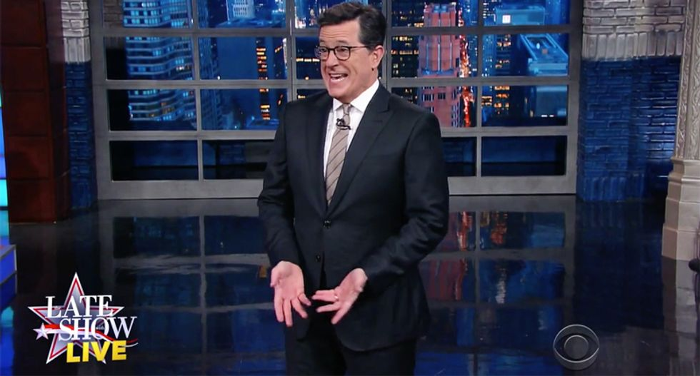 Colbert: Every day with Trump is another rollercoaster -- and America just 'can't stop throwing up'