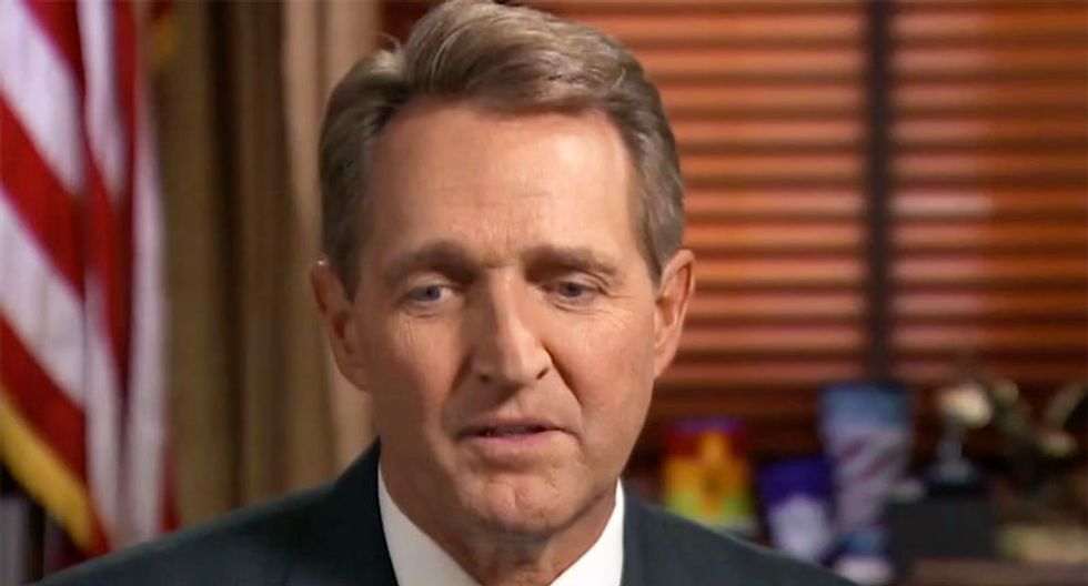Jeff Flake destroyed online after lashing out at Jimmy Carter to defend the legitimacy of the Trump administration