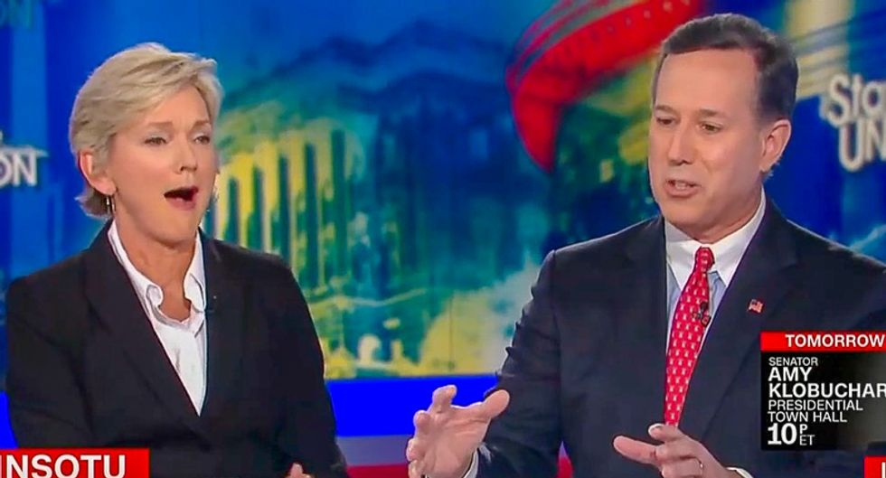 Rick Santorum sets off Jennifer Granholm by claiming Amazon's New York disaster 'is what socialism looks like'