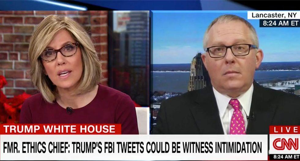 'It's absurd to think the FBI is a den of lefty liberals': CNN's Camerota shuts down ex-Trump adviser's FBI smears