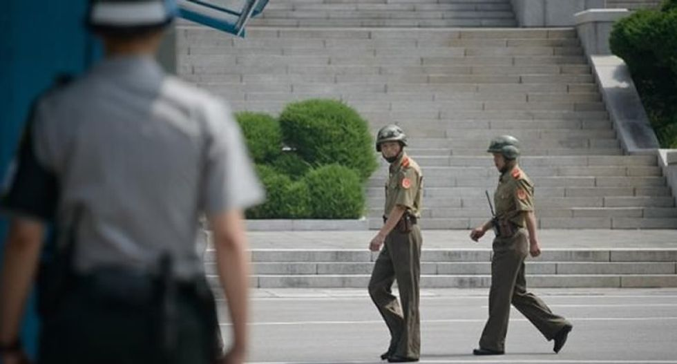 North and South Korean troops exchange fire across border