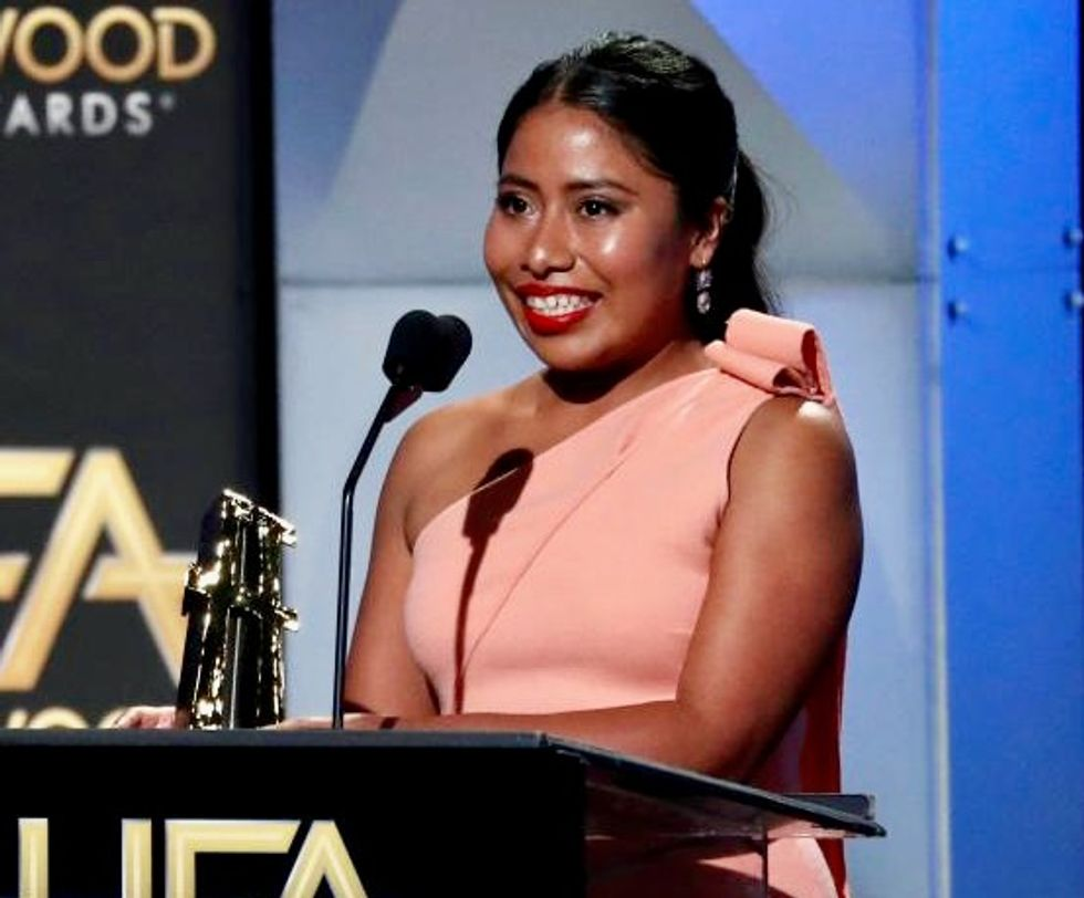 'Roma' actress says she is proud of her roots after fellow actor uses racial slur