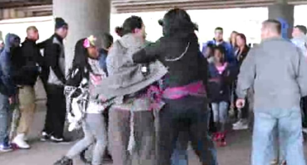 Video shows scuffle between St. Louis Rams fans and Ferguson protesters