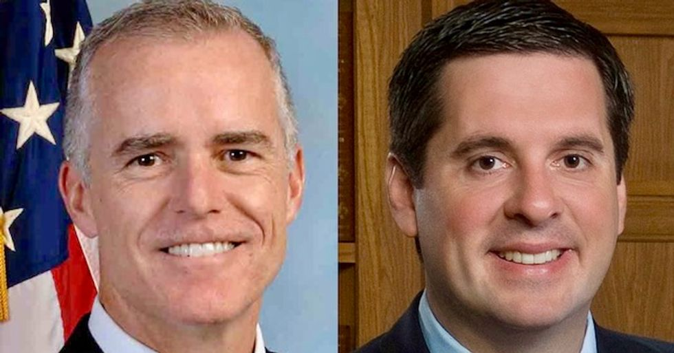 McCabe blames Devin Nunes for leaking details of FBI's Trump investigation to the White House