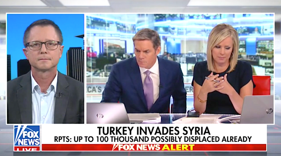 Fox host brought to tears after witnessing the humanitarian catastrophe Trump and Turkey have unleashed in Syria