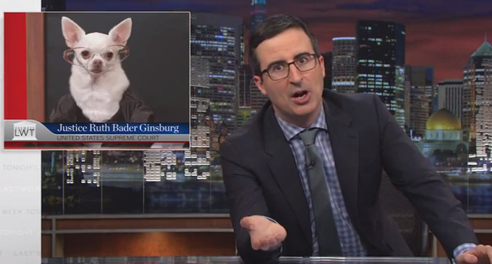 WATCH: John Oliver 'dogs' Supreme Court with hilarious canine re-enactments