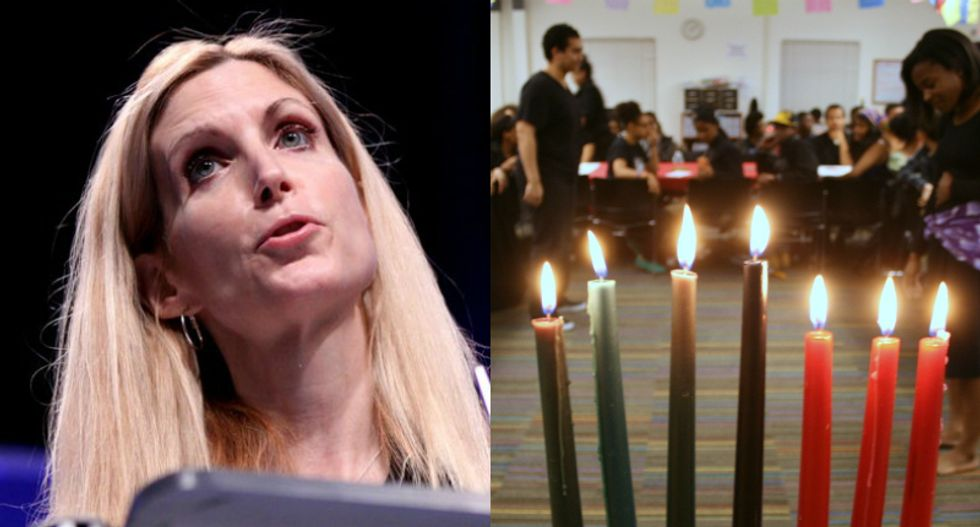 Ann Coulter claims 'American Blacks' don't celebrate Kwanzaa — and that the FBI invented the holiday