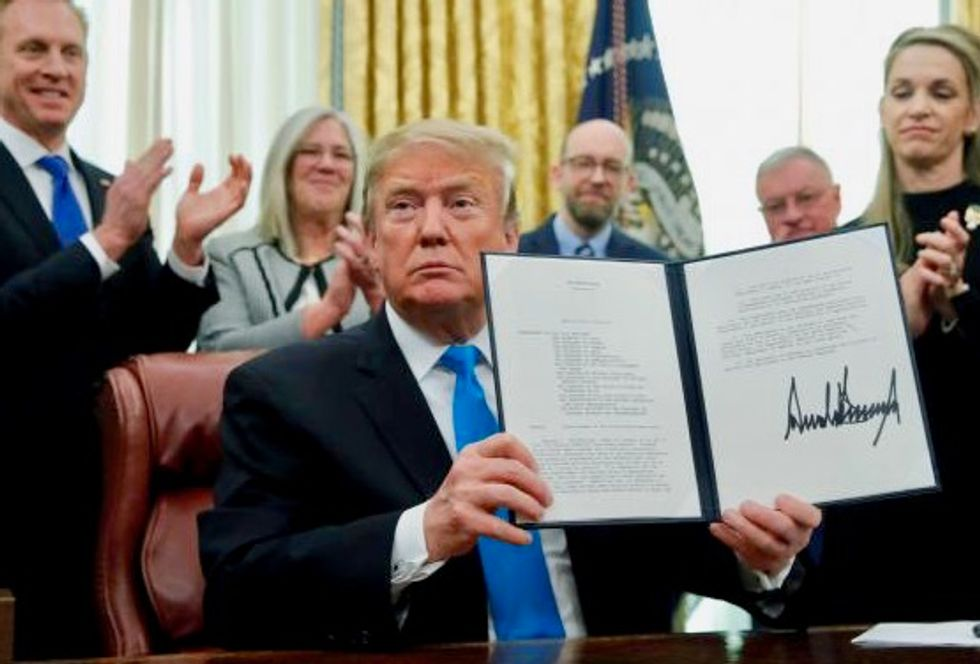Trump claims he signed a law that's been on the books for decades