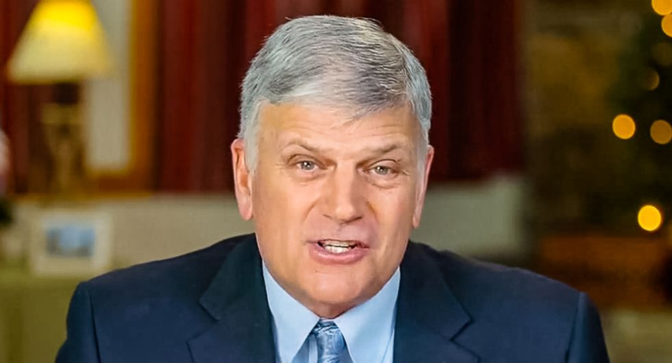 'Alleged Christian' Franklin Graham gets scorched for his hypocritical praise of 'classiest first lady' Melania Trump