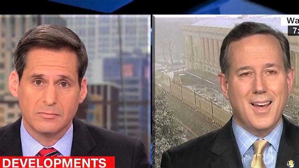 Rick Santorum squirms as CNN's John Berman grills him about Trump interfering in DOJ investigations