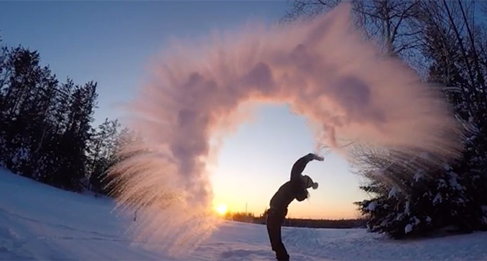 Here are 13 amazing videos of the Polar Vortex plunging the nation into frigid cold