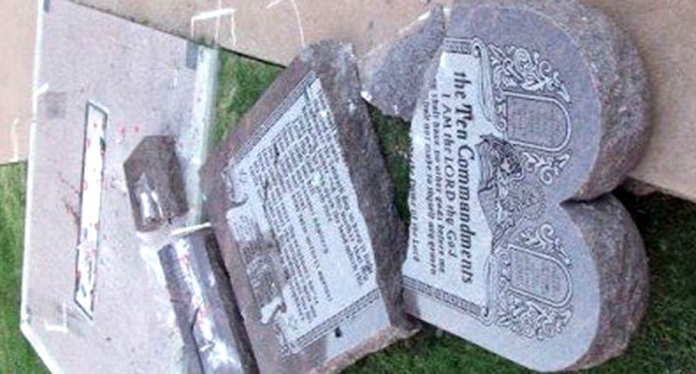 Man who destroyed Oklahoma 10 Commandments monument was devout Christian