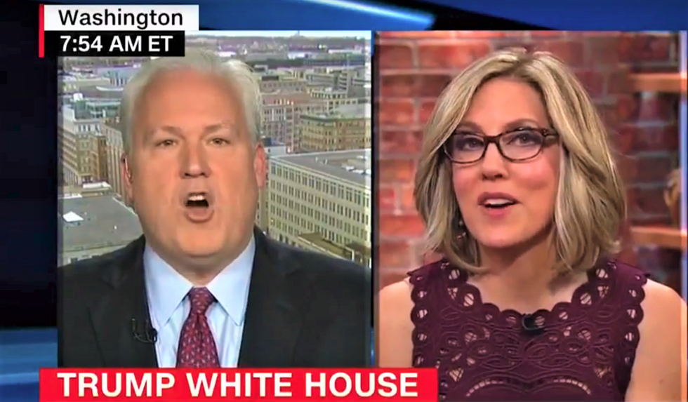 'Conservatives don't care anymore?': CNN's Alisyn Camerota corners Trump supporter over porn star payouts