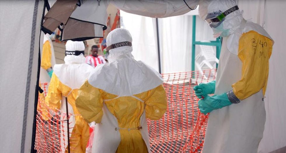 American healthcare worker with Ebola in 'serious' condition: NIH