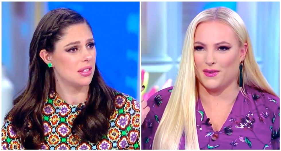 The View's Meghan McCain weirdly snaps after Abby Huntsman agrees with her: 'I'm still talking!'