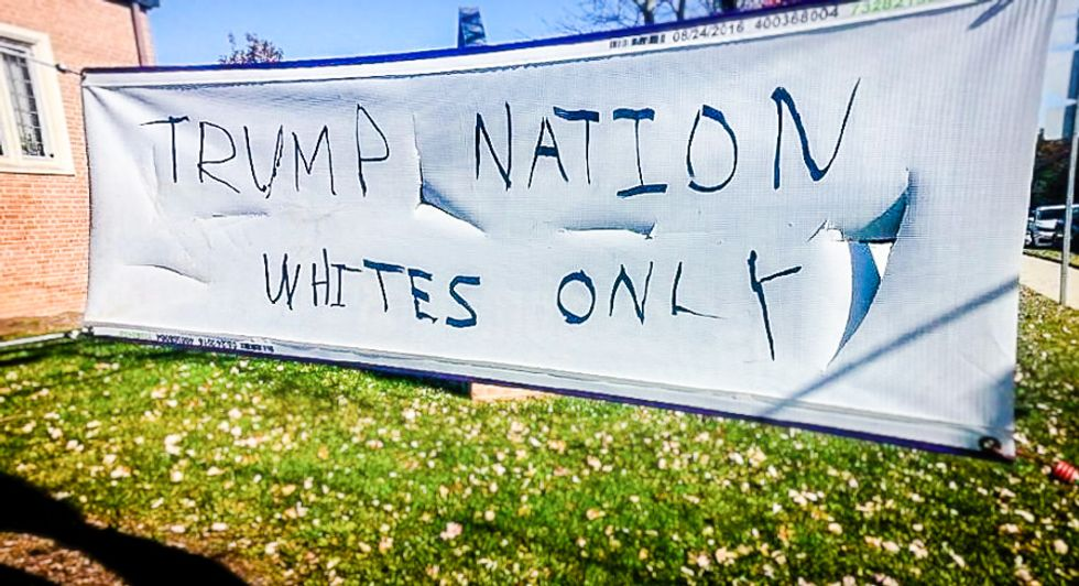 'Trump Nation -- whites only': Trump fans deface Maryland church for reaching out to Hispanics