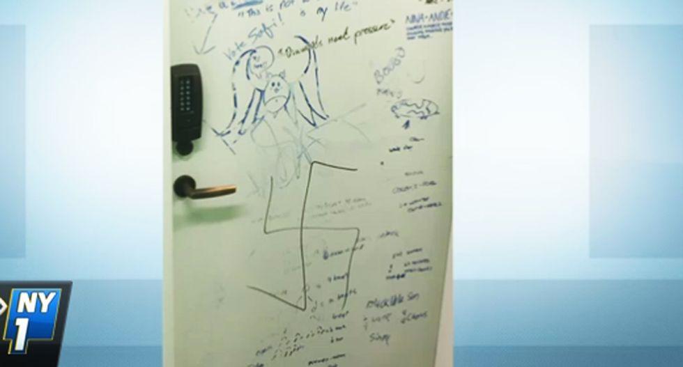 Dorm room doors at NYC's famed 'progressive' New School defaced with Nazi symbols