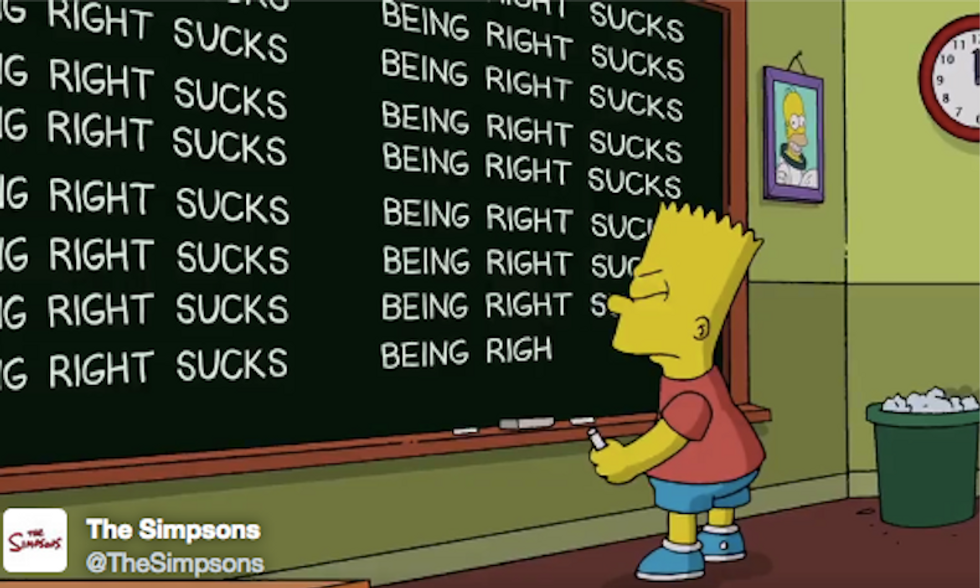 'Being right sucks': 'The Simpsons' gives a nod to its 2000 prediction of a Trump presidency