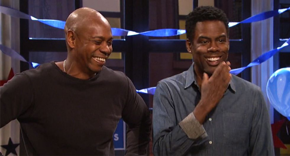 Watch: Dave Chappelle and Chris Rock ridicule white voters suddenly realizing America 'might be racist'