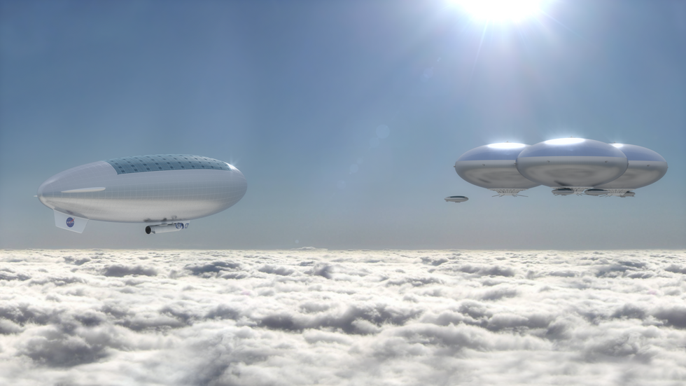 Steampunk in space? NASA proposes floating, two-person dirigible mission to explore Venus