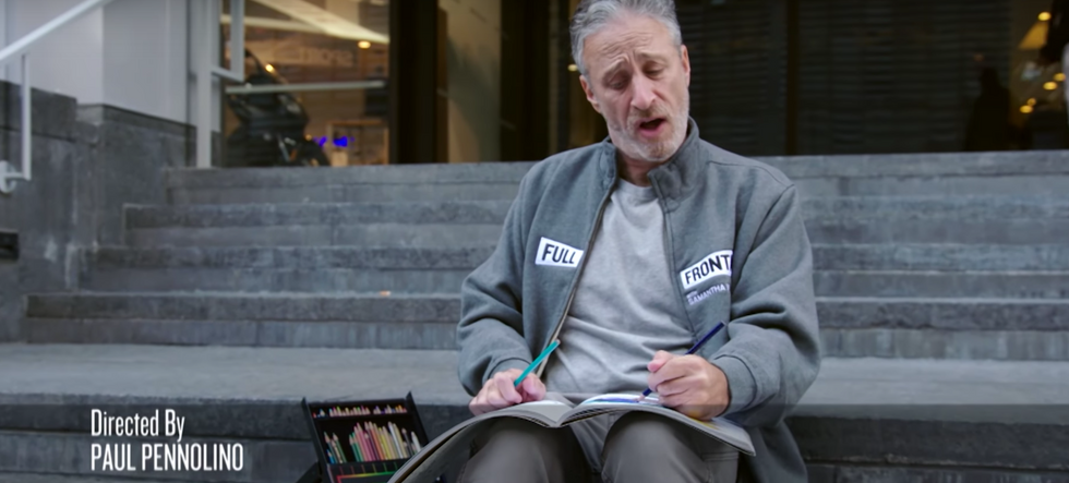 Jon Stewart delivers a much needed post-election moment of zen on Samantha Bee