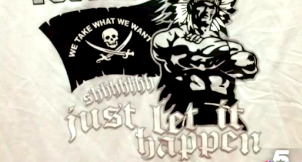 Texas school bans football team's insanely rapey T-shirts: 'Shhhhhhh, just let it happen'