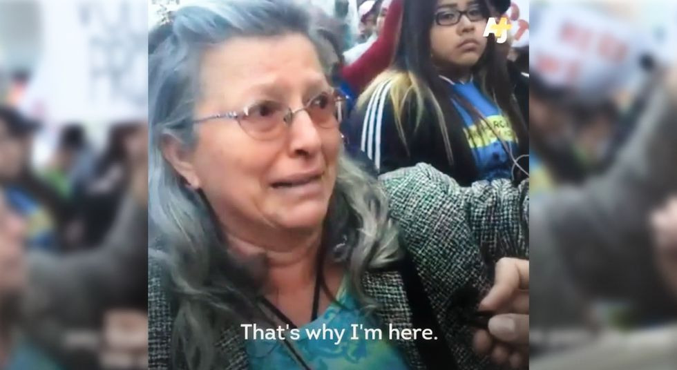Heartbreaking: Sexual assault survivor protests Trump in tears because he makes her relive trauma