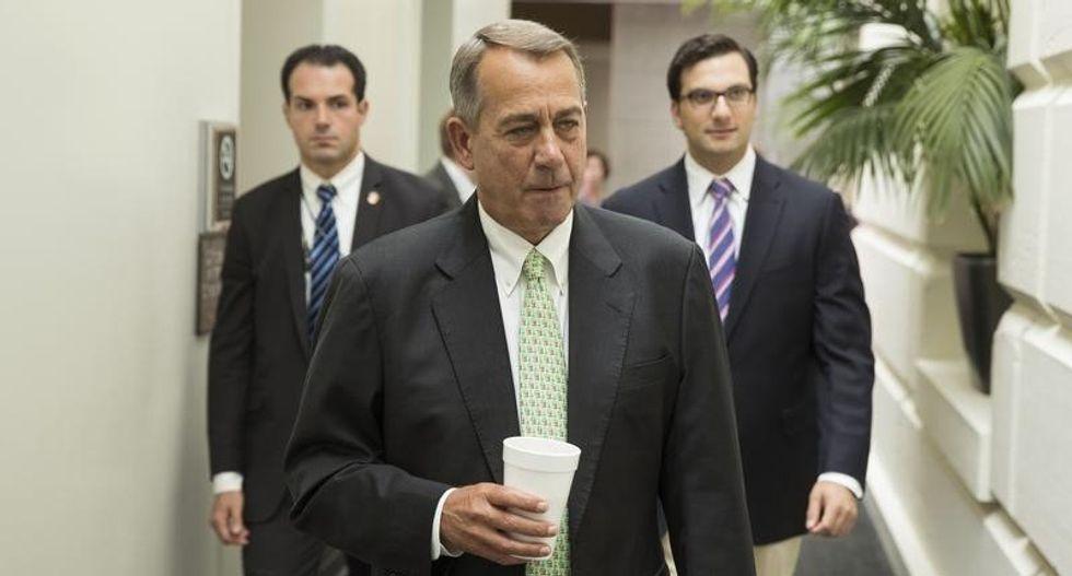 House Speaker John Boehner touts bills to build Keystone, repeal Obamacare